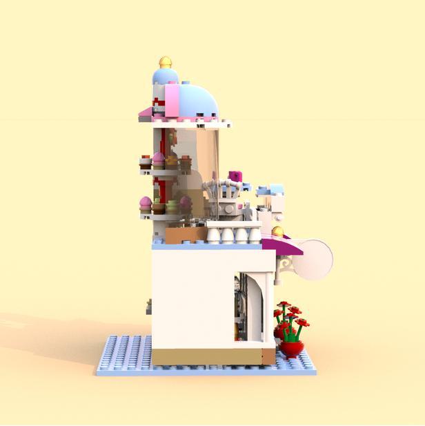 Lego Moc 7669 Cupcake Cafe Alternate Build Friends 2017