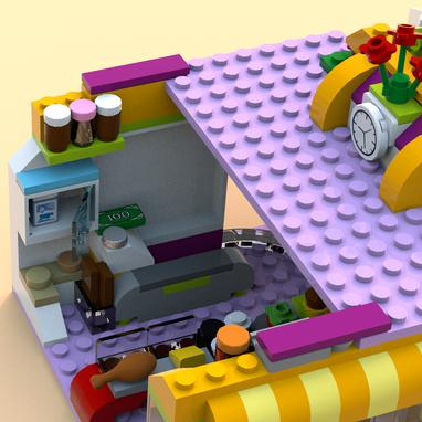 Lego Moc 7702 Heartlake Supermarket Alternate Build Friends 2017