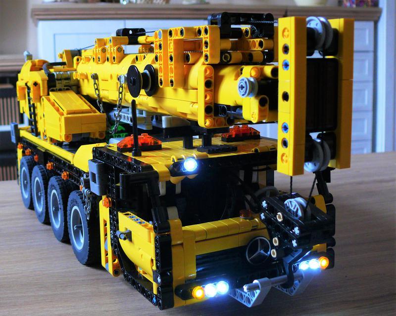 Moc Rc 4 Axle Mobile Crane Lego Technic And Model Team