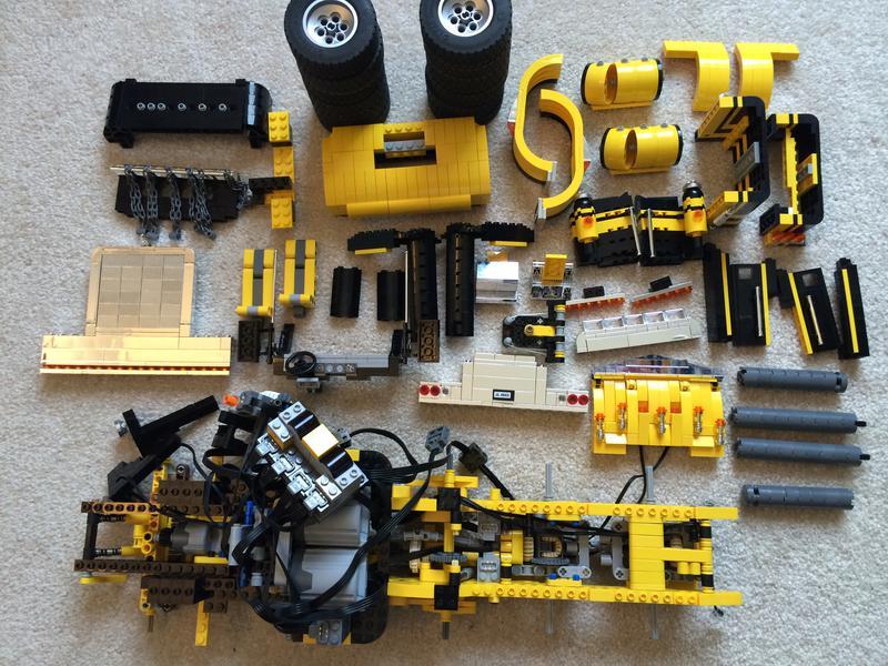 lego yellow truck 3221 instructions
