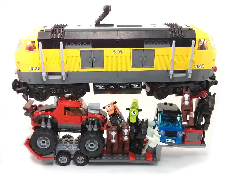 lego monster truck transporter instructions