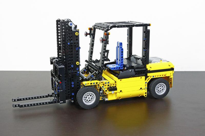 Lego Moc 1939 Customized Forklift Technic 2014 Rebrickable