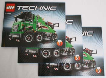 LEGO Technic 42008 Instruction Manuals