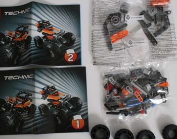 LEGO Technic 42001 Box Contents
