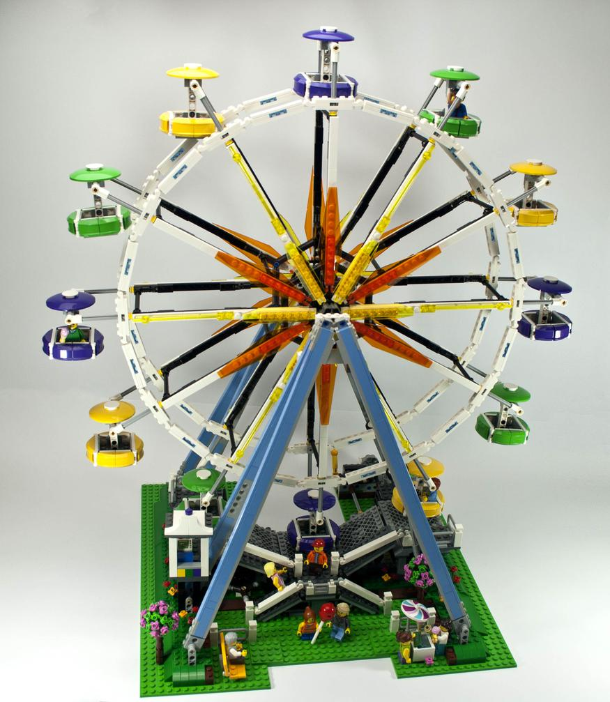 Review - 10247 Ferris Wheel | Rebrickable - Build with LEGO