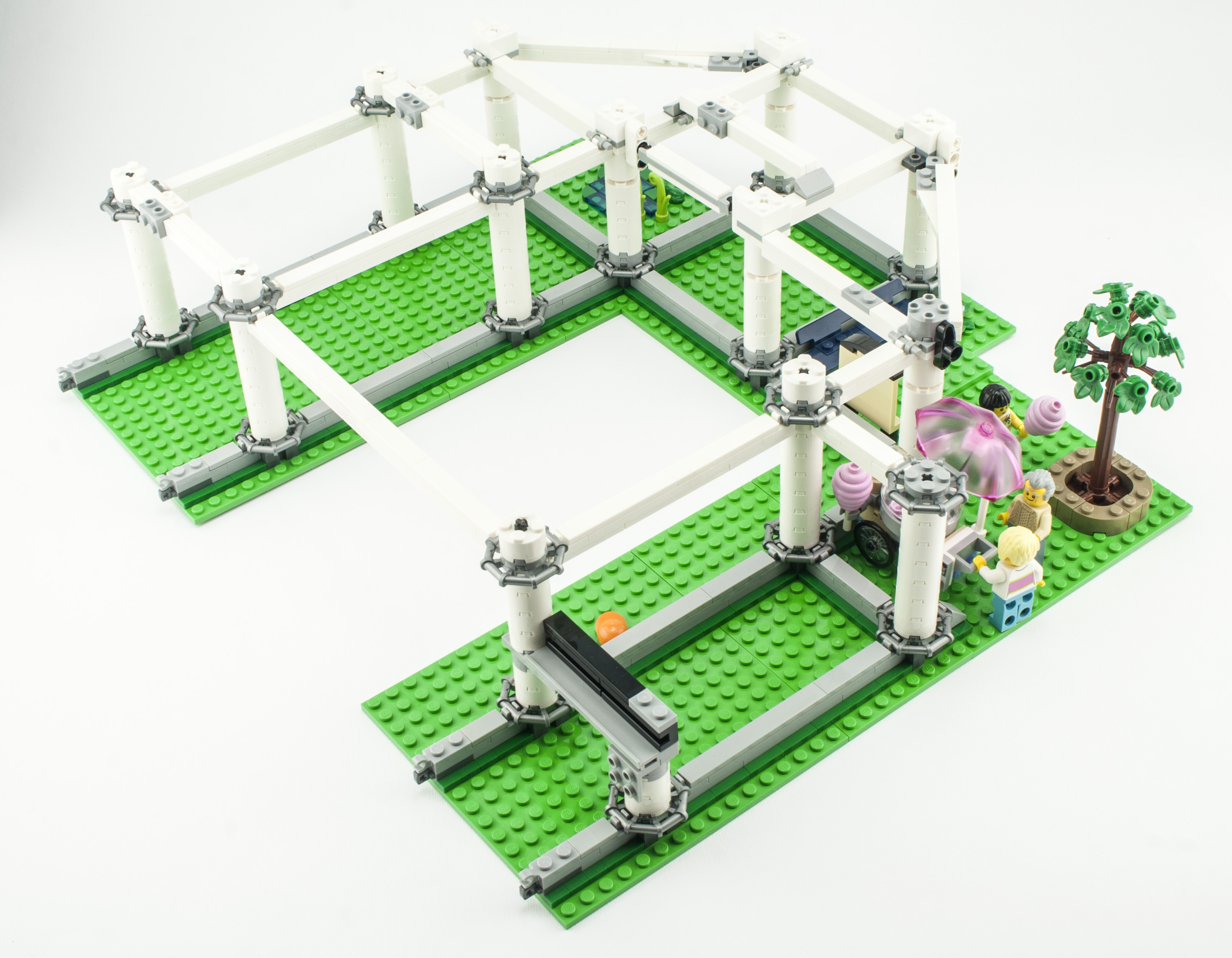 Lego Green Roller Coaster Track Cart//Train Base and Wheels 70922