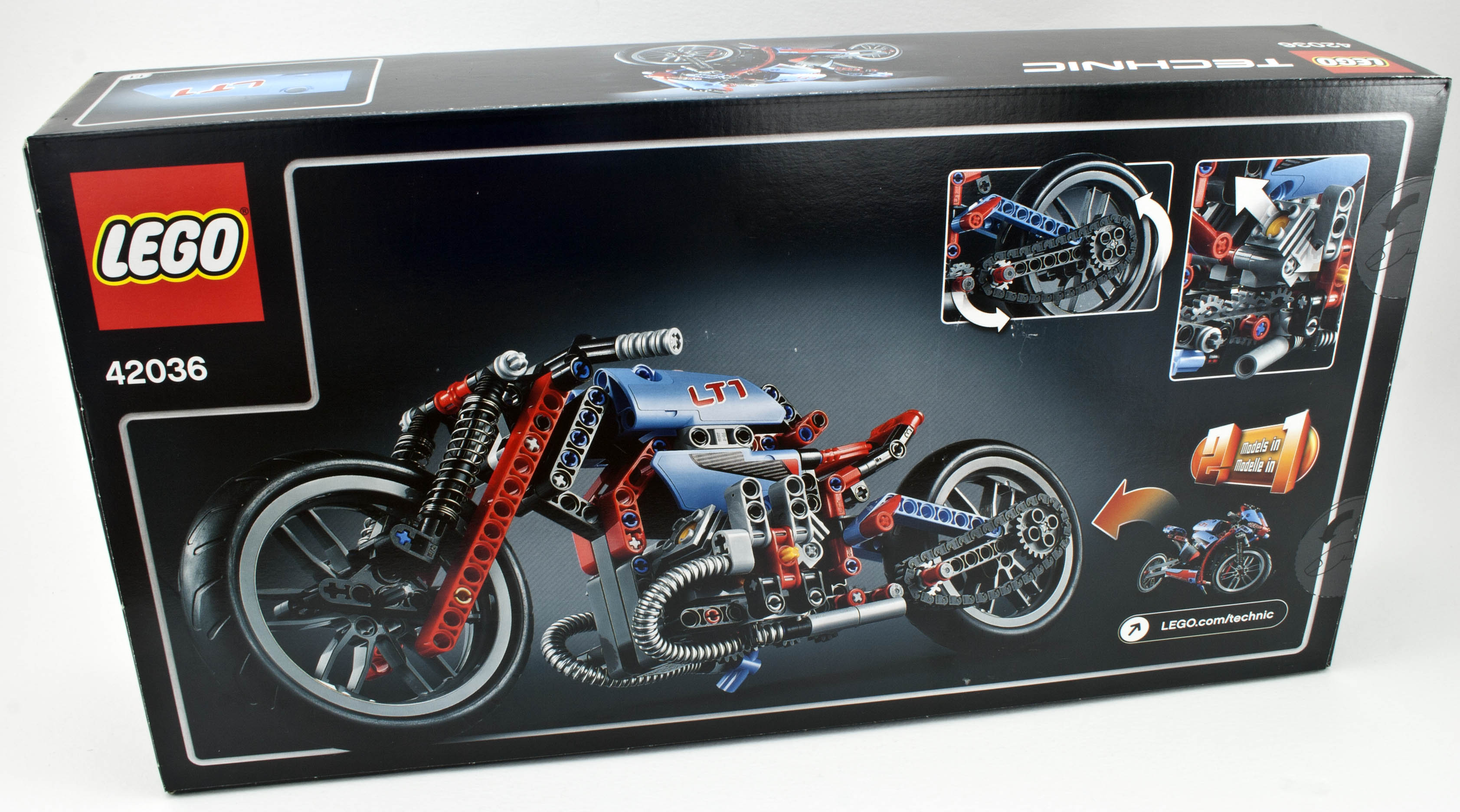 review 42036 street motorcycle rebrickable build. Black Bedroom Furniture Sets. Home Design Ideas