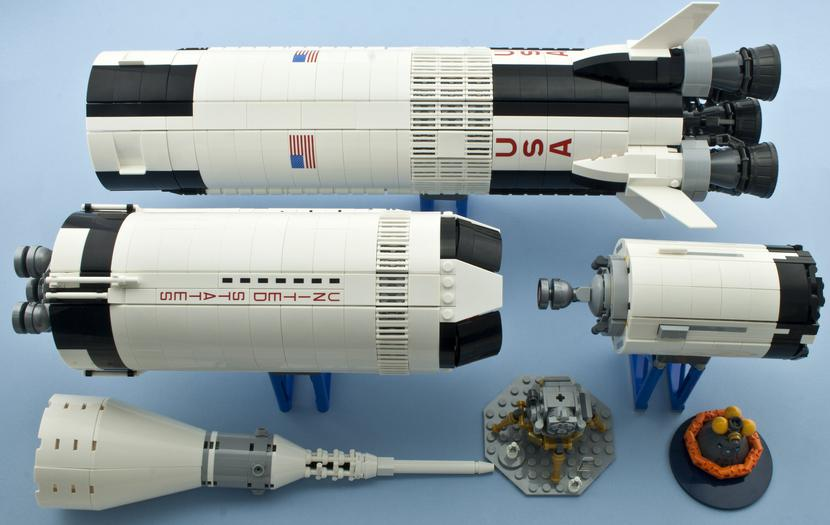 Review Lego 21309 Nasa Apollo Saturn V Rebrickable Build With Lego