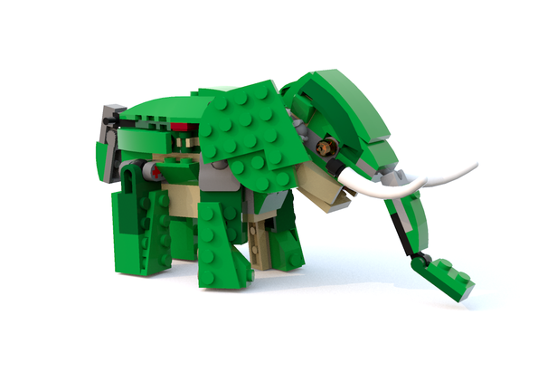 Lego moc 7631 31058 elephant creator model creature 2017 lego moc 7631 31058 elephant creator model creature 2017 rebrickable build with lego malvernweather Gallery