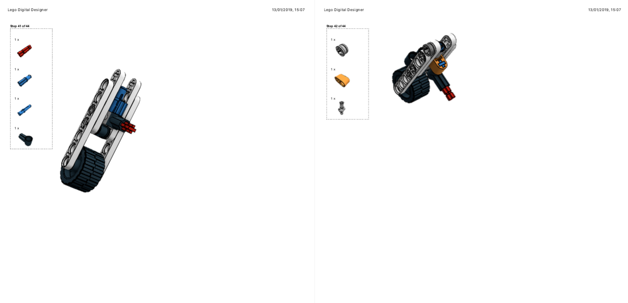 Lego Moc 21189 42088 Trike Technic 2019 Rebrickable Build With