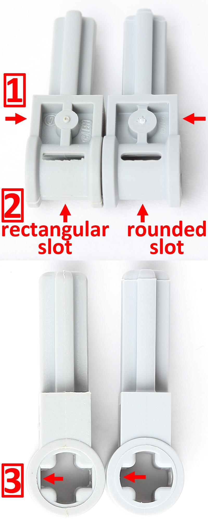 4 x  6553 Technic Pole Reverser Handle Yellow