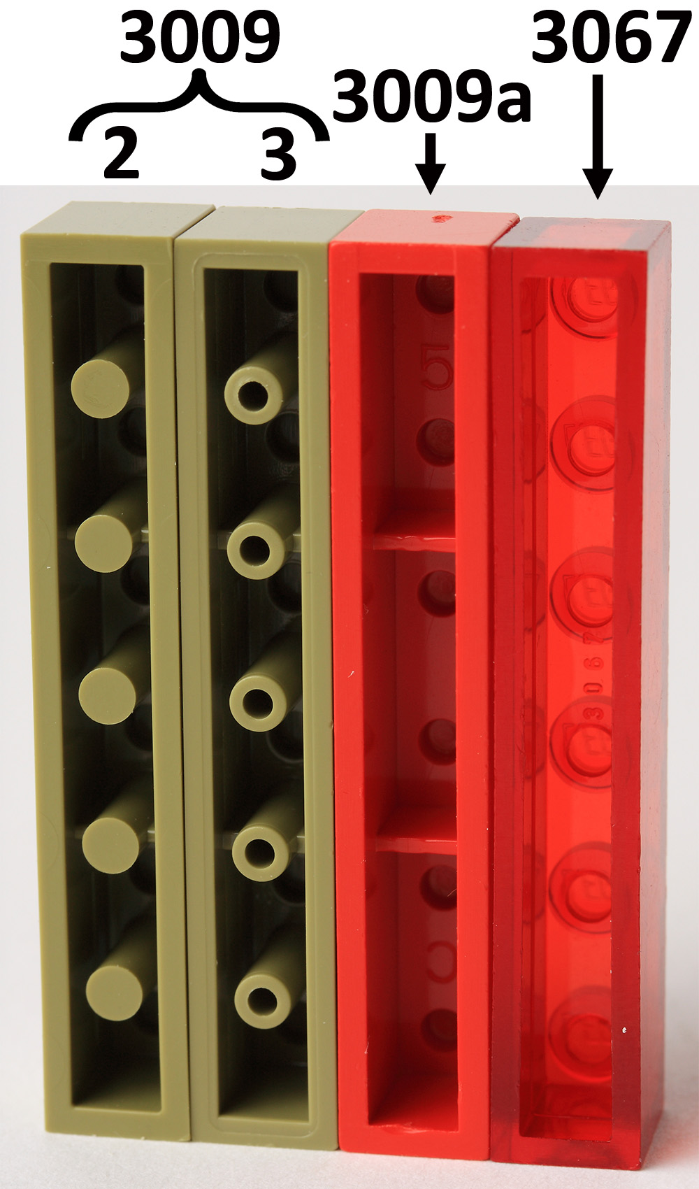 35 NEW LEGO Plate 1 x 6 Bricks reddish brown