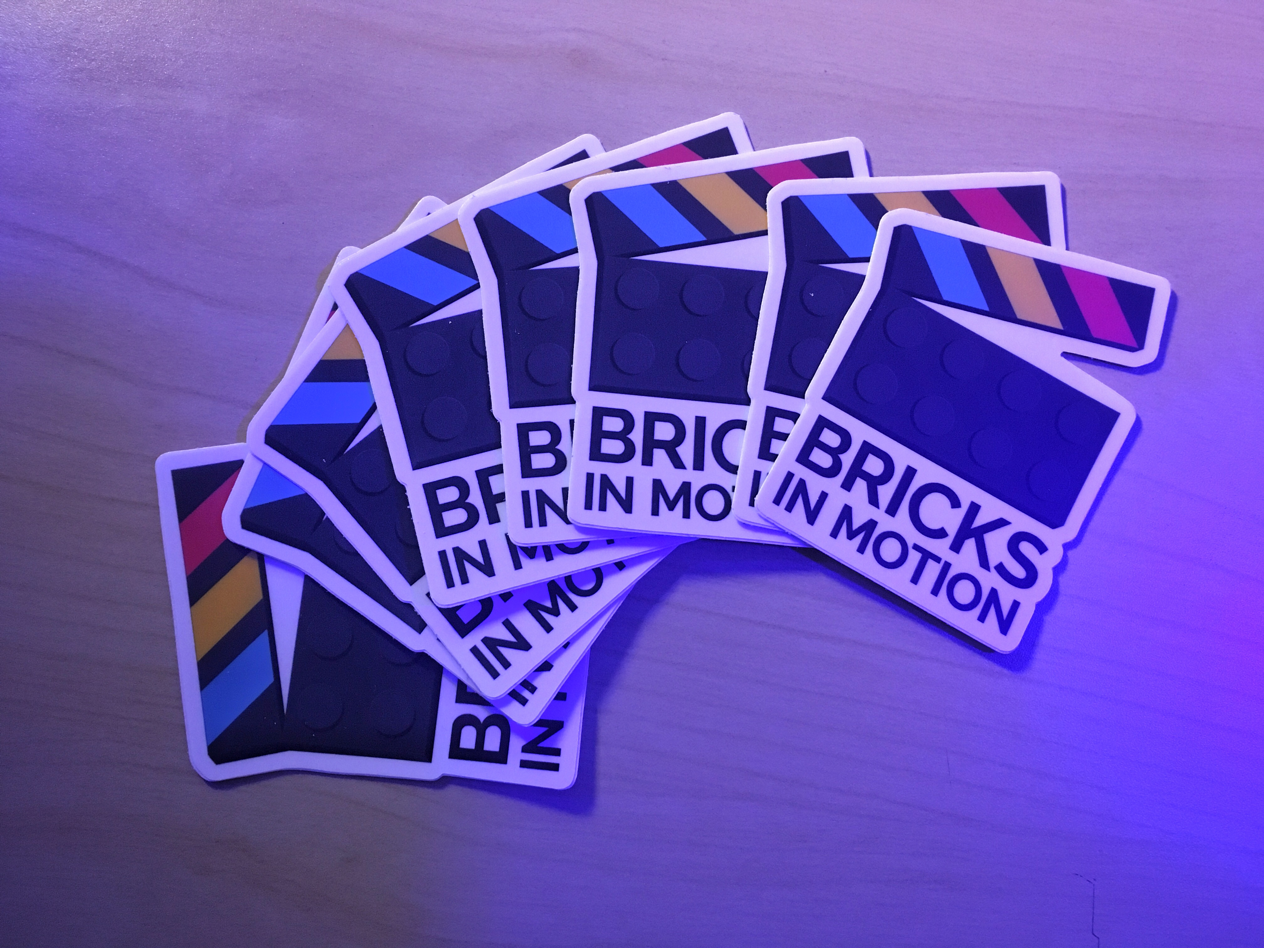 Bricks in Motion Stickers