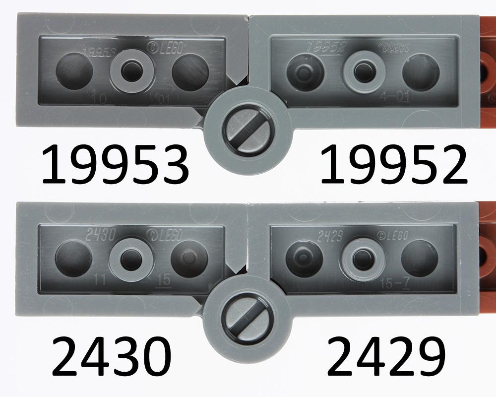 Base Blue 20 NEW LEGO Hinge Plate 1 x 4 Swivel Top