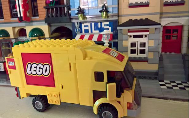 Lego Moc 8056 Delivery Van 3221 Rebuild Town City Traffic