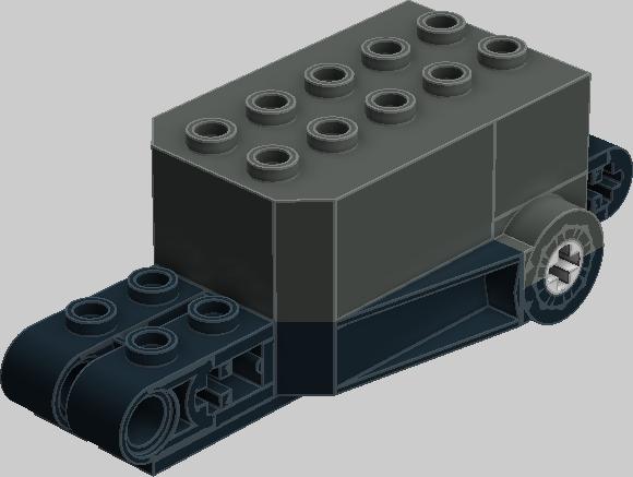 Lego Dark Bluish Gray Technic Steering Arm 6 x 2 Towball Socket Rounded Lot X4
