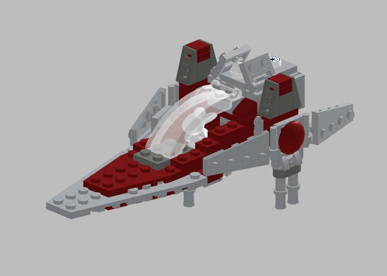 Lego Moc Republic Bunny V Wing Starfighter By Rothana Lego Engineering Rebrickable Build With Lego