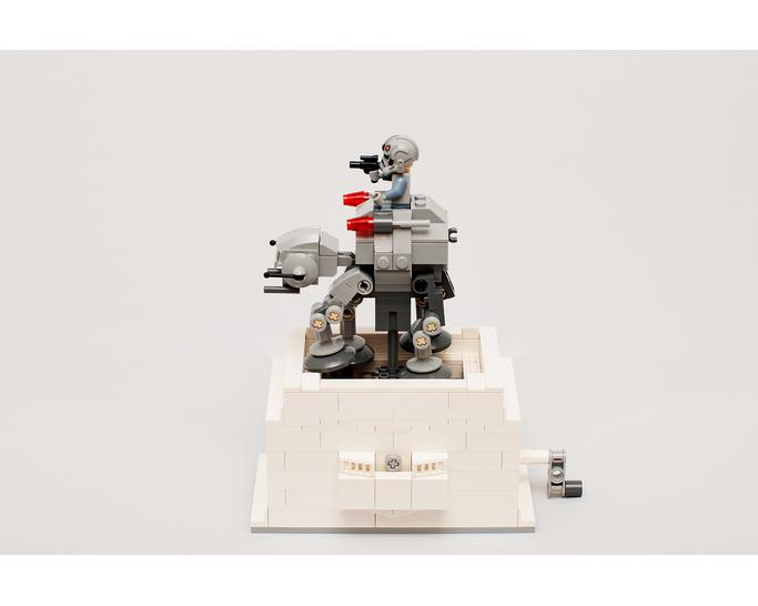 Star war moc 6121 kinetic base for microfighter at-at by timeremembered mocbrickland