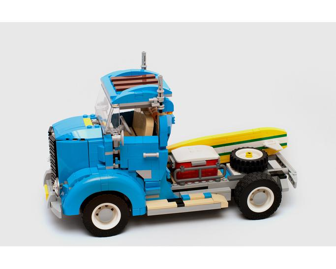 Technic moc-9001 vintage truck by timeremembered mocbrickland