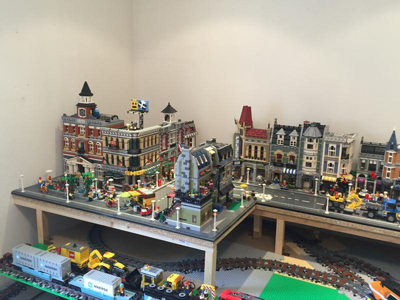 Wip Lego Stadt Layout Mit Eisenbahn
