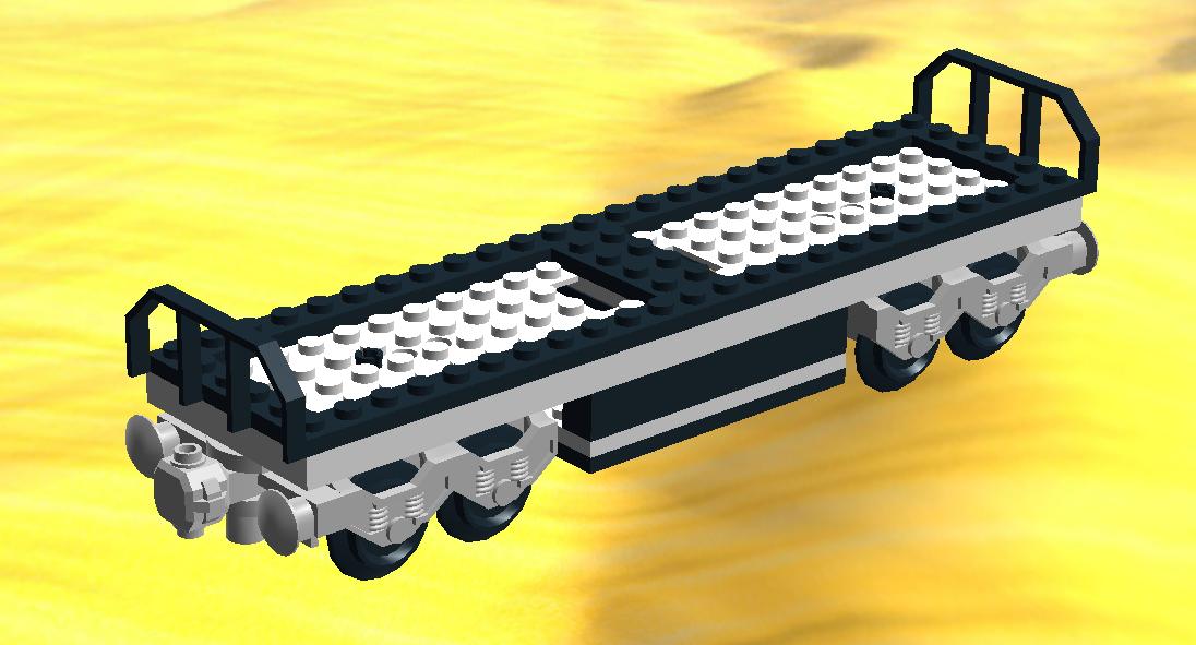 Lego Train Car Transport Carriage Inspired By 7939 Cargo Train
