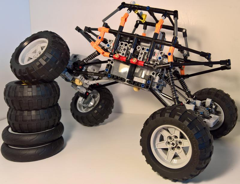 Lego Moc 6640 Rock Crawler With 4 Link Suspension Technic Model
