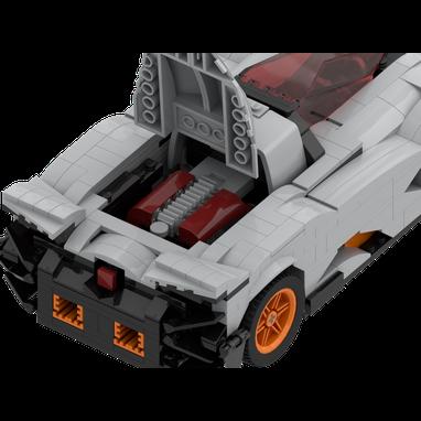 Lego Moc 25001 Lamborghini Egoista Racers Lamborghini 2017