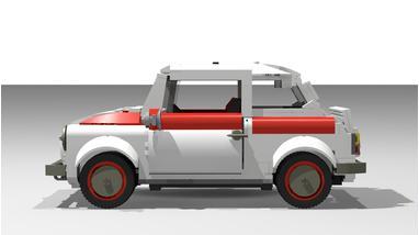 Lego Moc 4222 Fiat 500 N Sport Creator 2016 Rebrickable Build